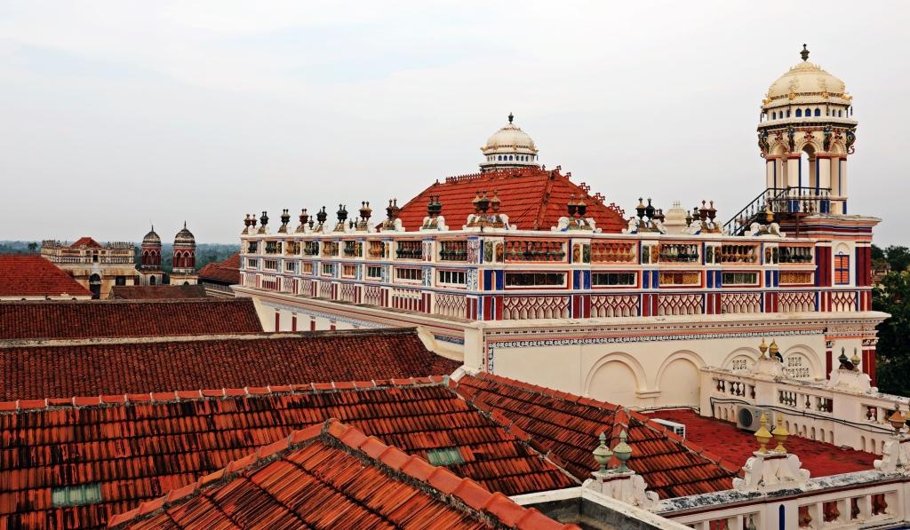 Chidambara Vilas' roof. Chettinadu