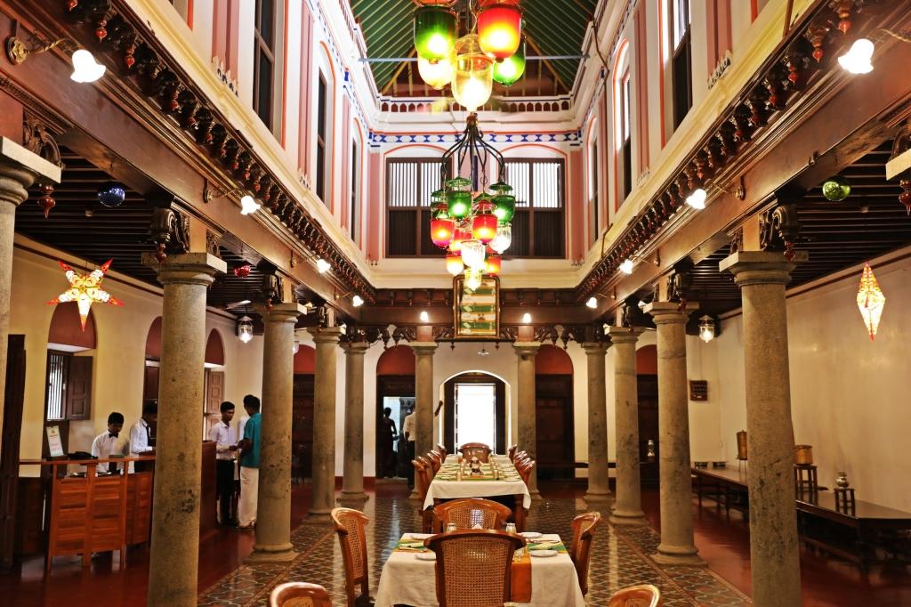 Dining Hall, Chidambara Vilas, Chettinadu