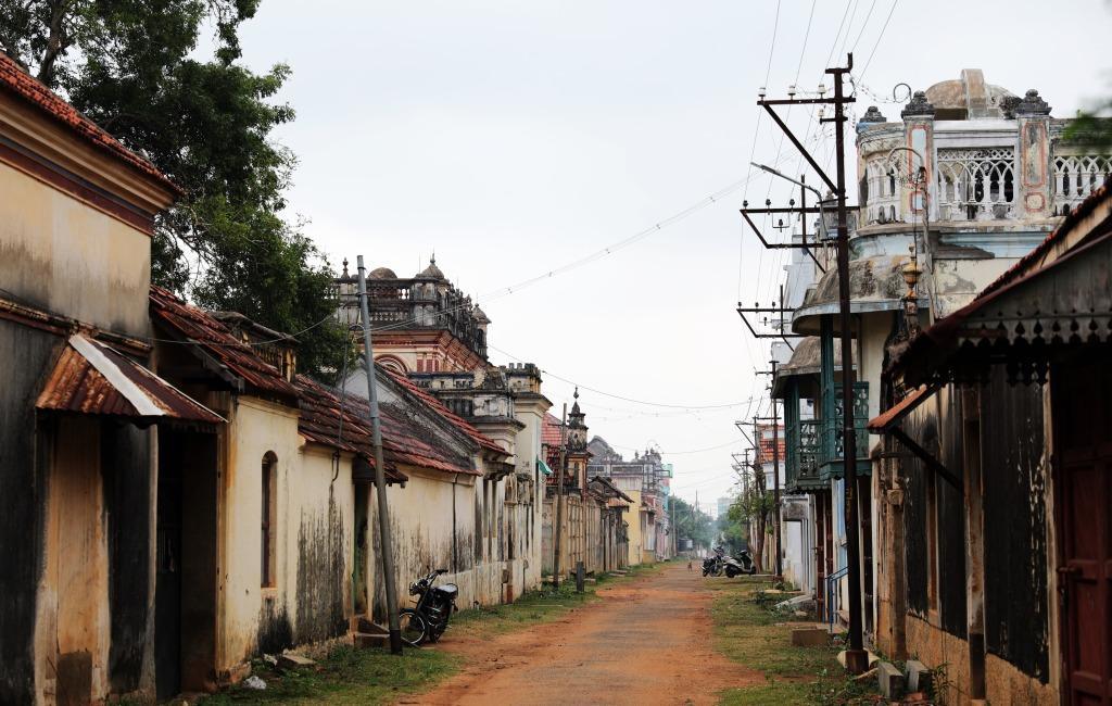 Street in Kadiapatti, Chettinadu