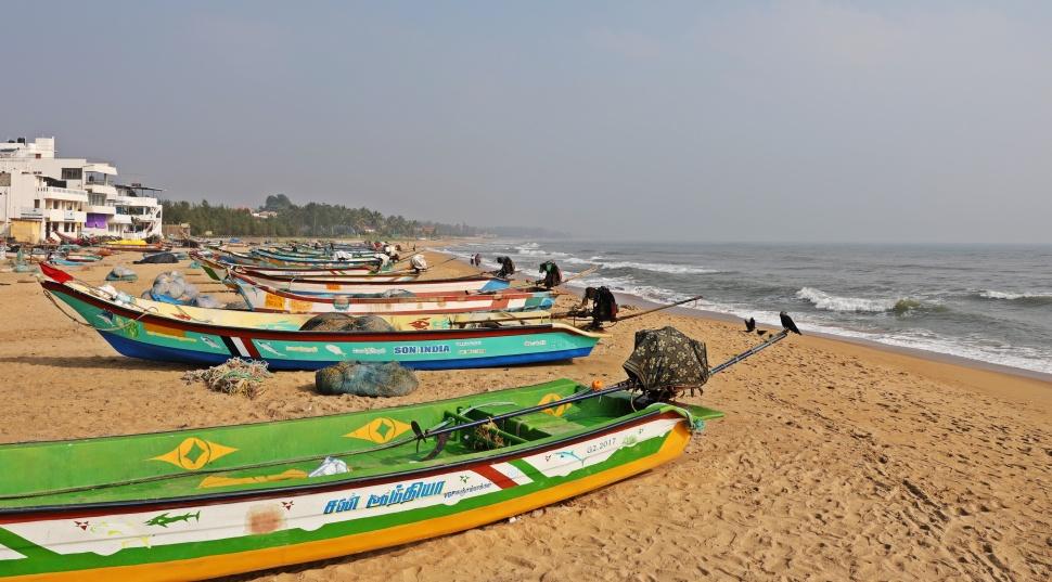 Boats on Mamallapuram Beach