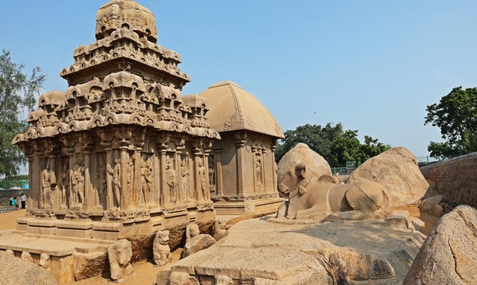 Bull statue, Pancha Rathas, Mamallapuram