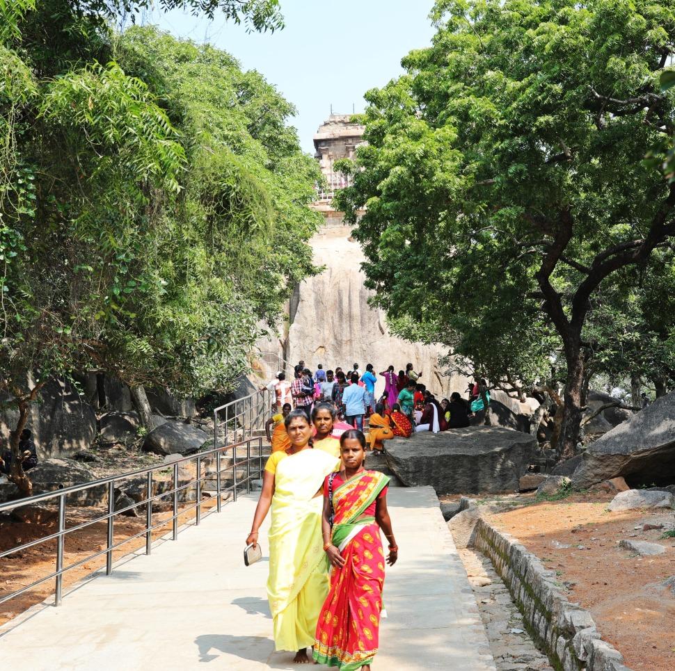 Indian pilgrims, Mamallapuram