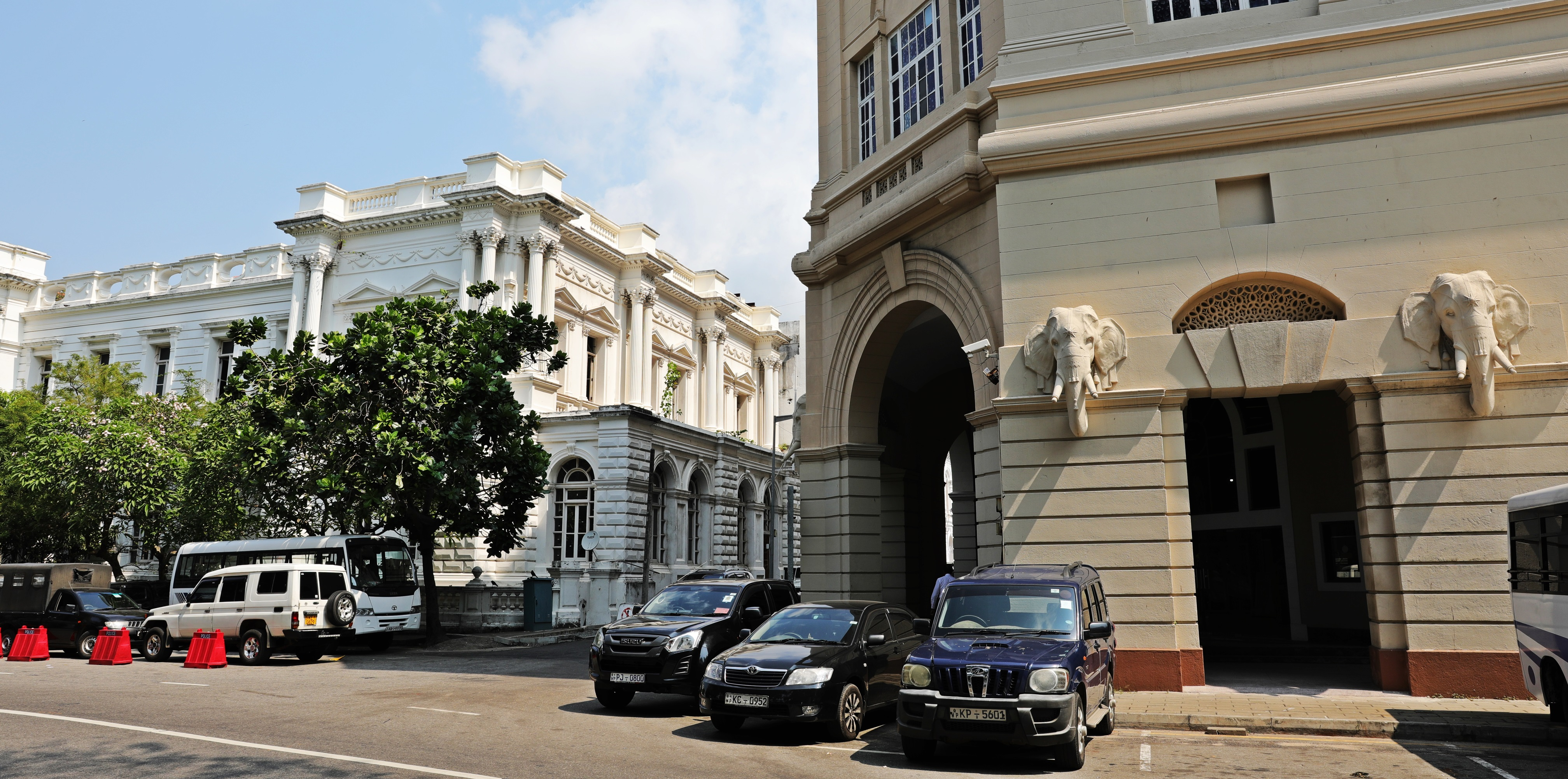 Colonial buildings in the Old Fort, Colombo