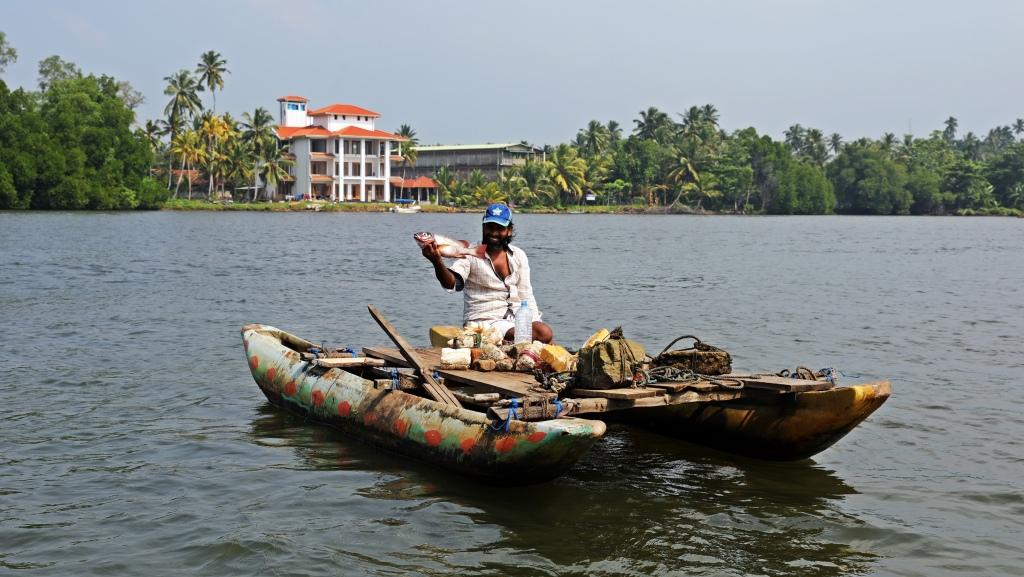 Fisherman Bentota River, Sri Lanka