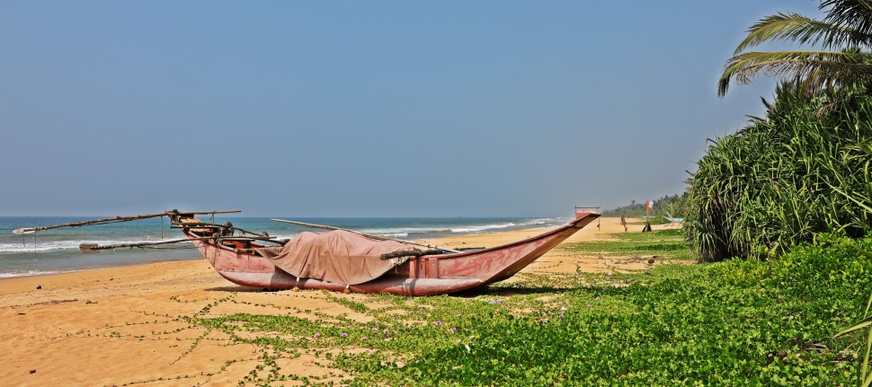 Fishing boat, Bentota Beach, Sri Lanka