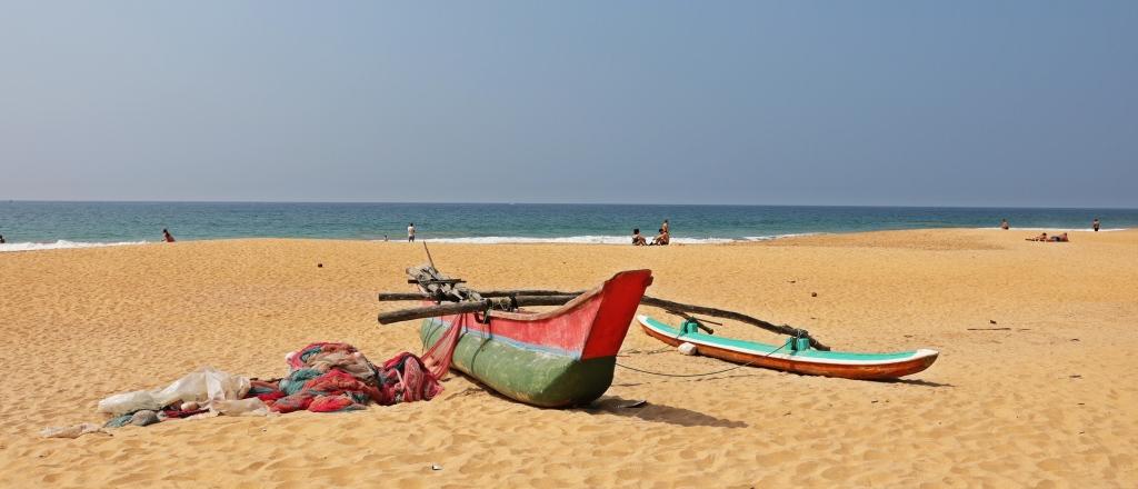 Fishing boat, Hikkaduwa Beach, Sri Lanka