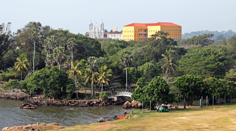 View from fort walls, Galle