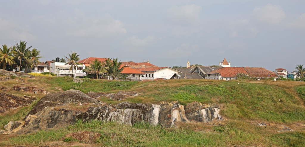 Rocky ground inside fort walls, Galle