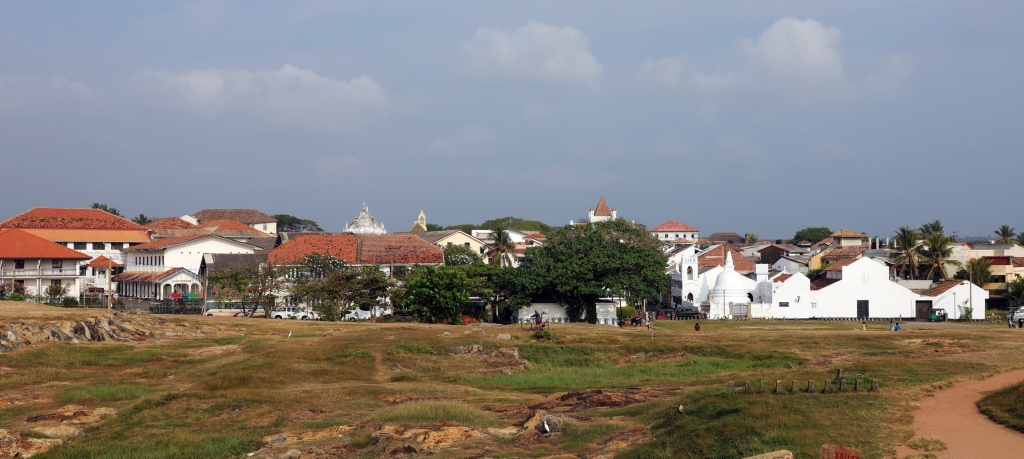 Colonial town inside fort walls, Galle