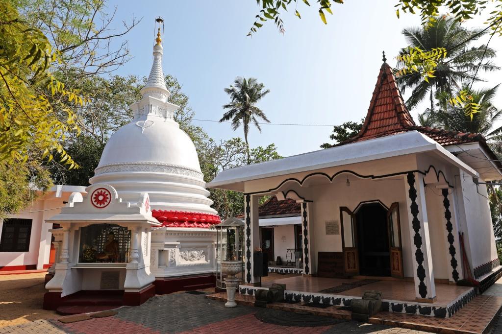 Buddhist monastery, Mirissa, Sri Lanka