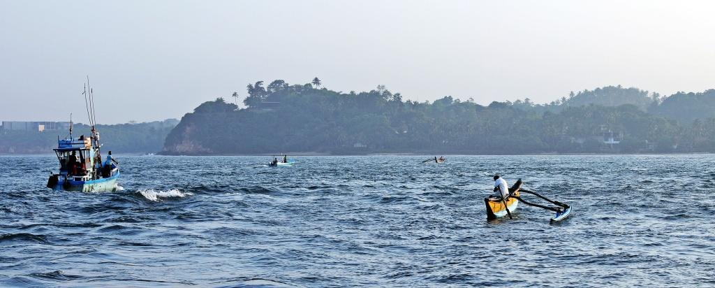 Fishing boats, Mirissa, Sri Lanka