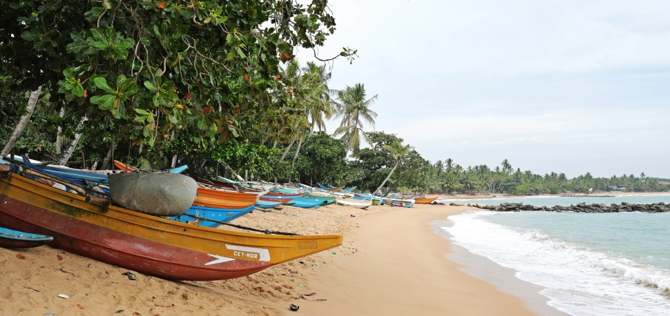 Fishing boats, Tangalle Beach, Sri Lanka