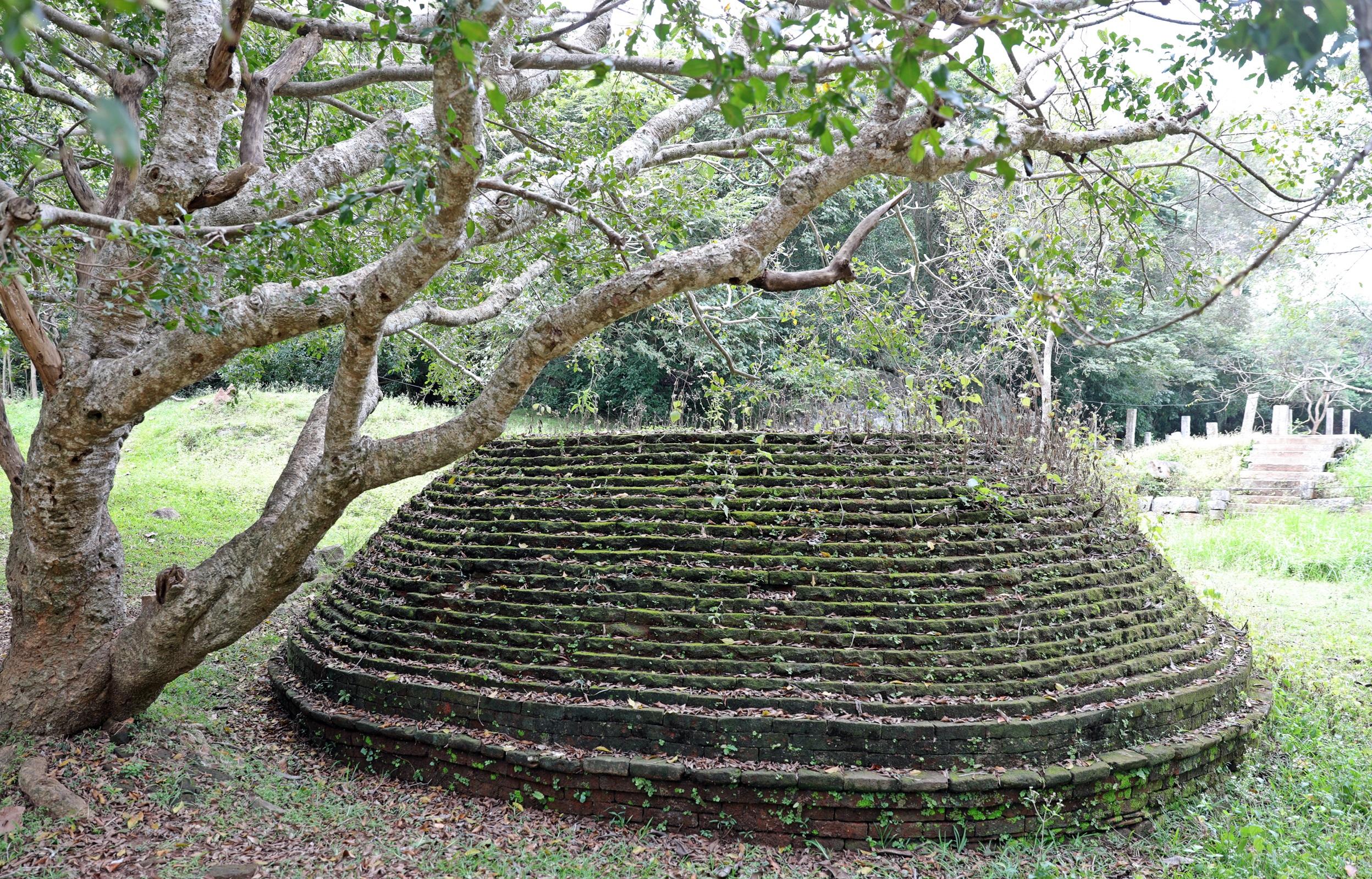 Stupa ruin in monastery, Mihintale