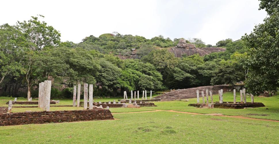 Monastic hospital ruins in Mihintale, Sri Lanka