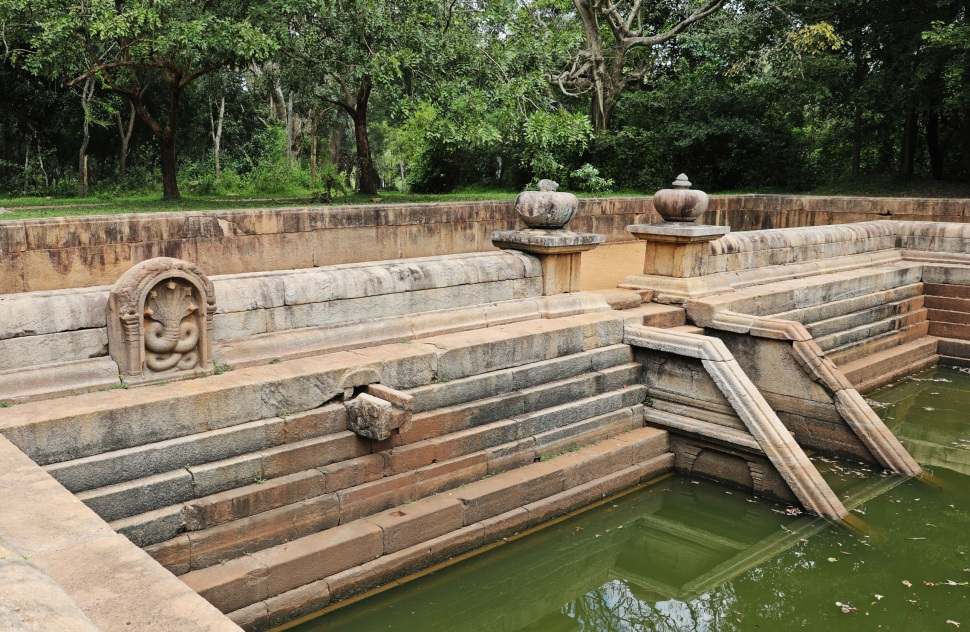 Spout on northern pond, Anuradhapura
