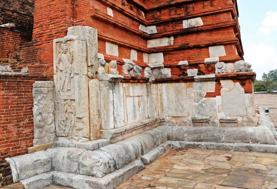 Carvings, Jetavanarama Dagoba, Anuradhapura