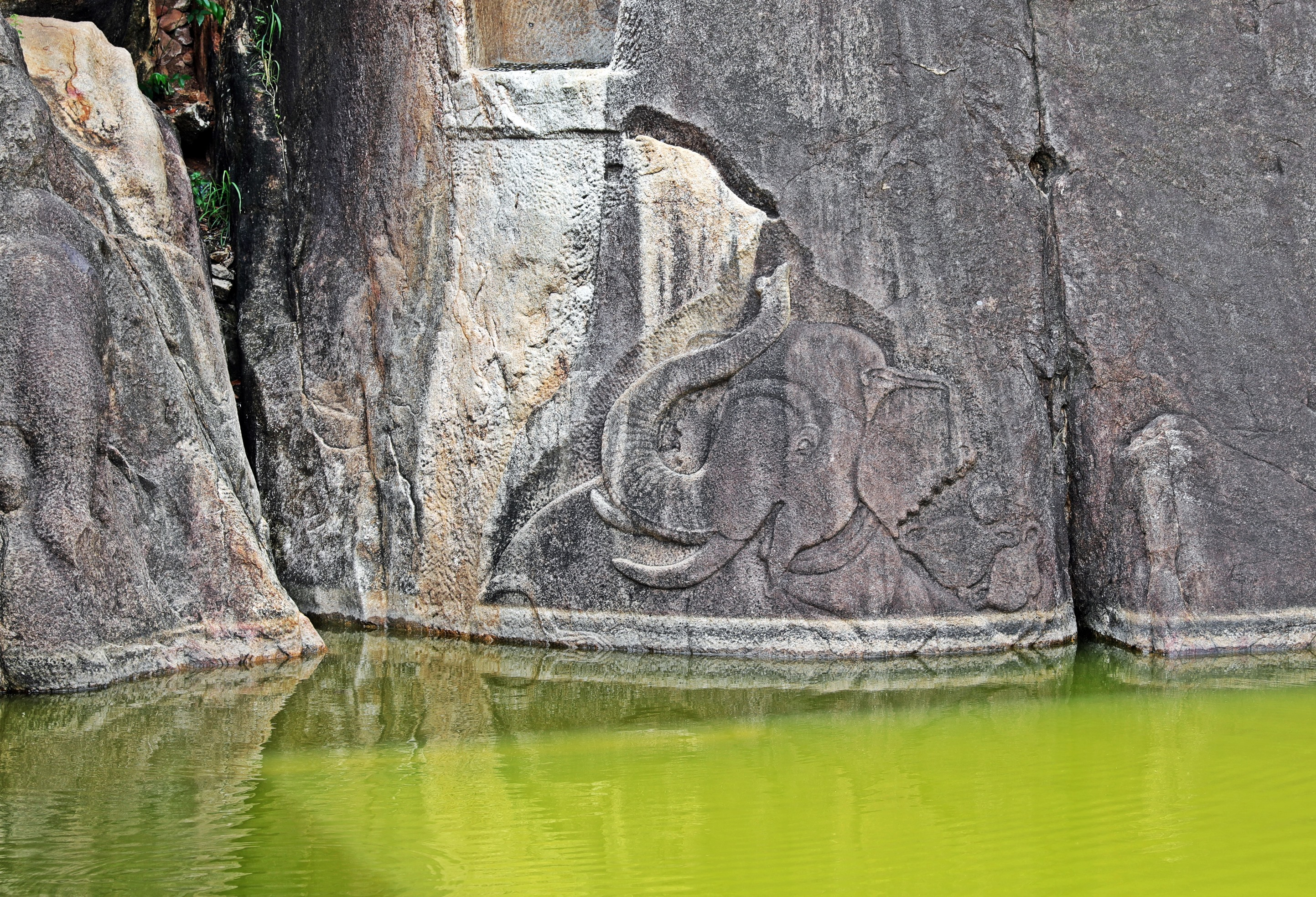 Elephant carving, Isurumuniya Vihara