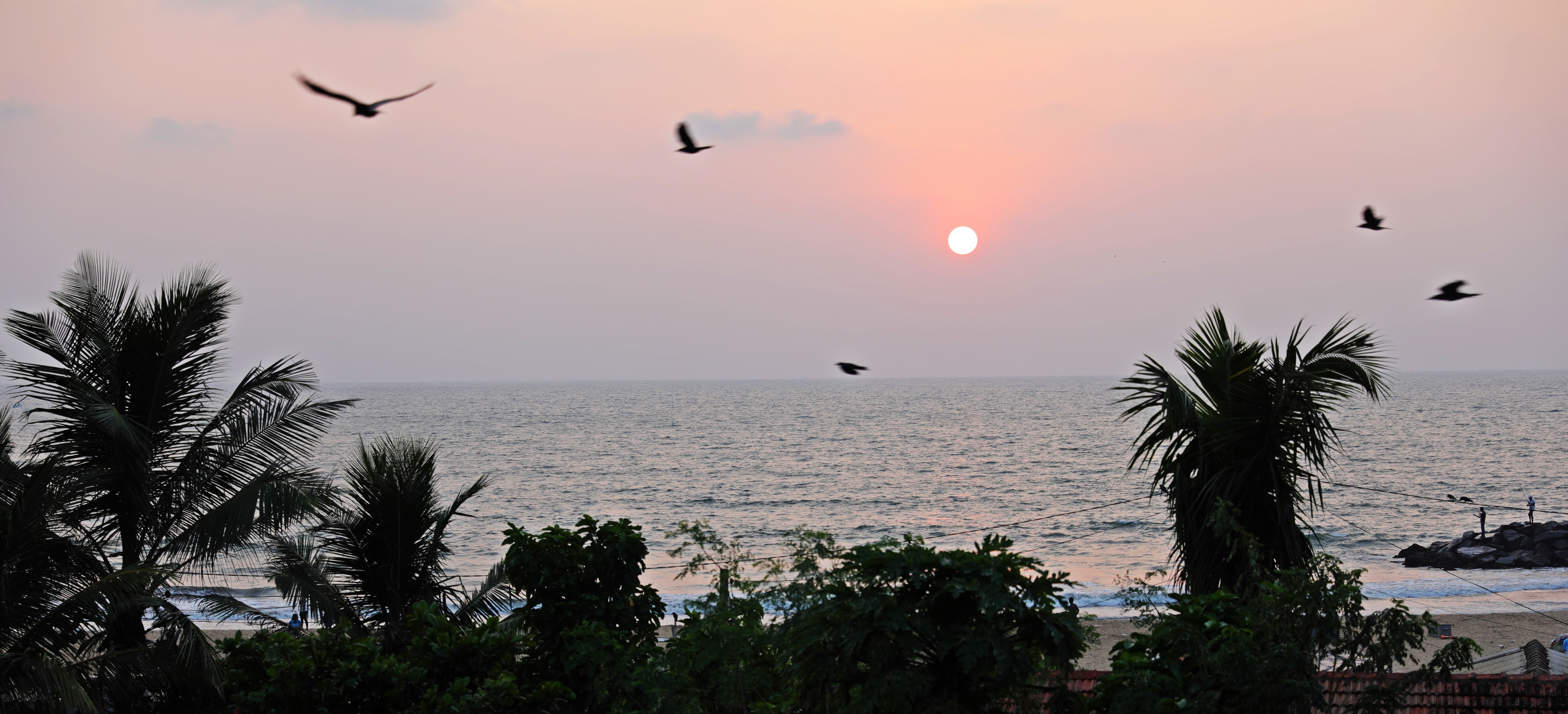 Sunset from our Negombo hotel