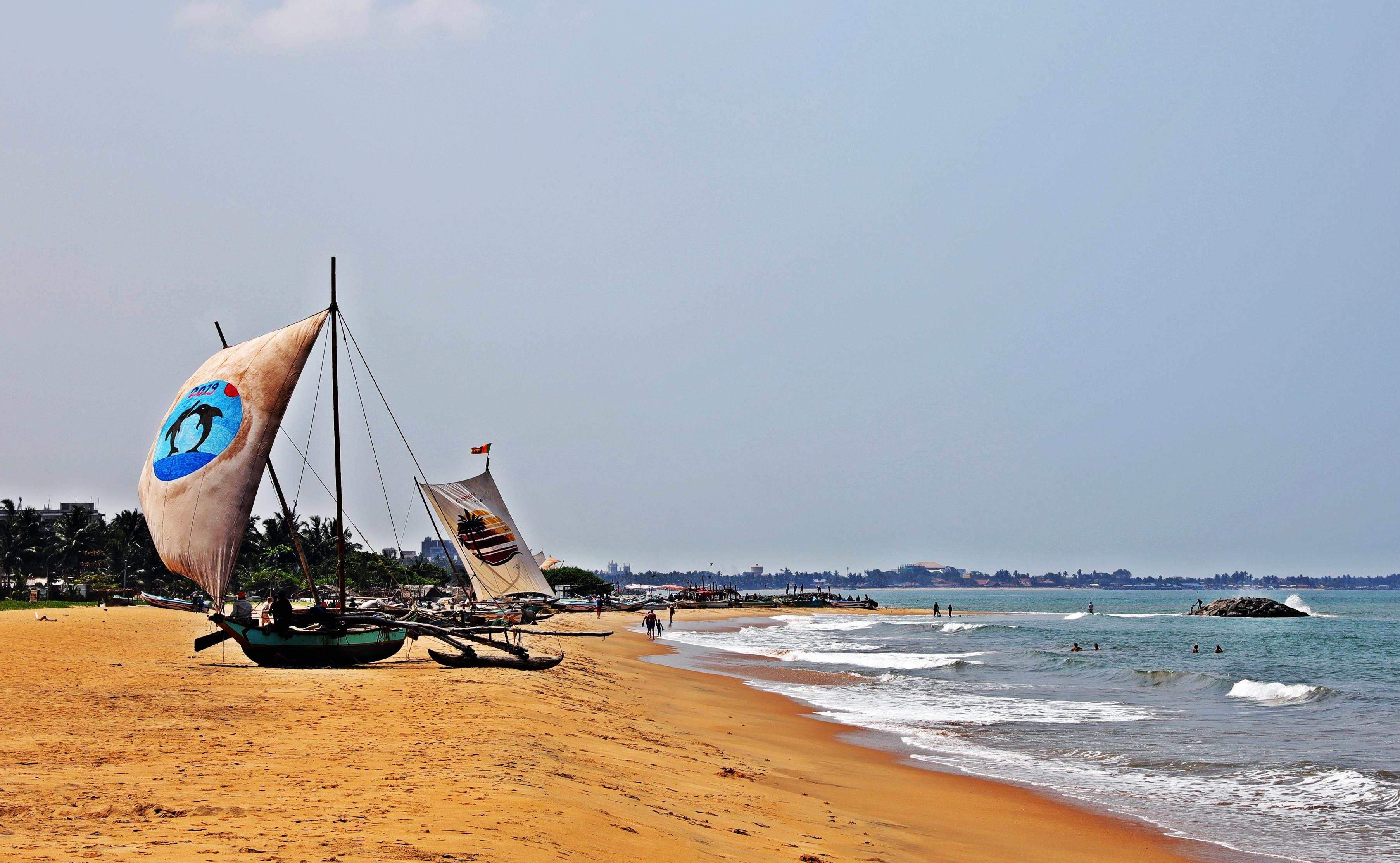 'Catamarans' on Negombo beach
