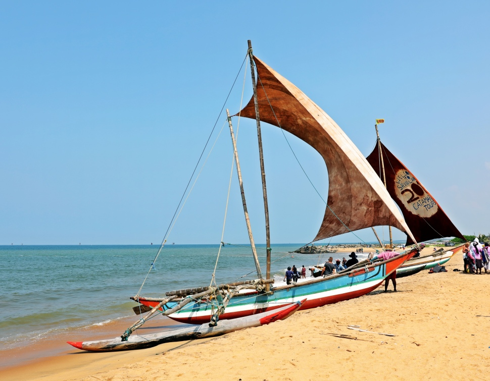 'Catamarans' on Negombo beach