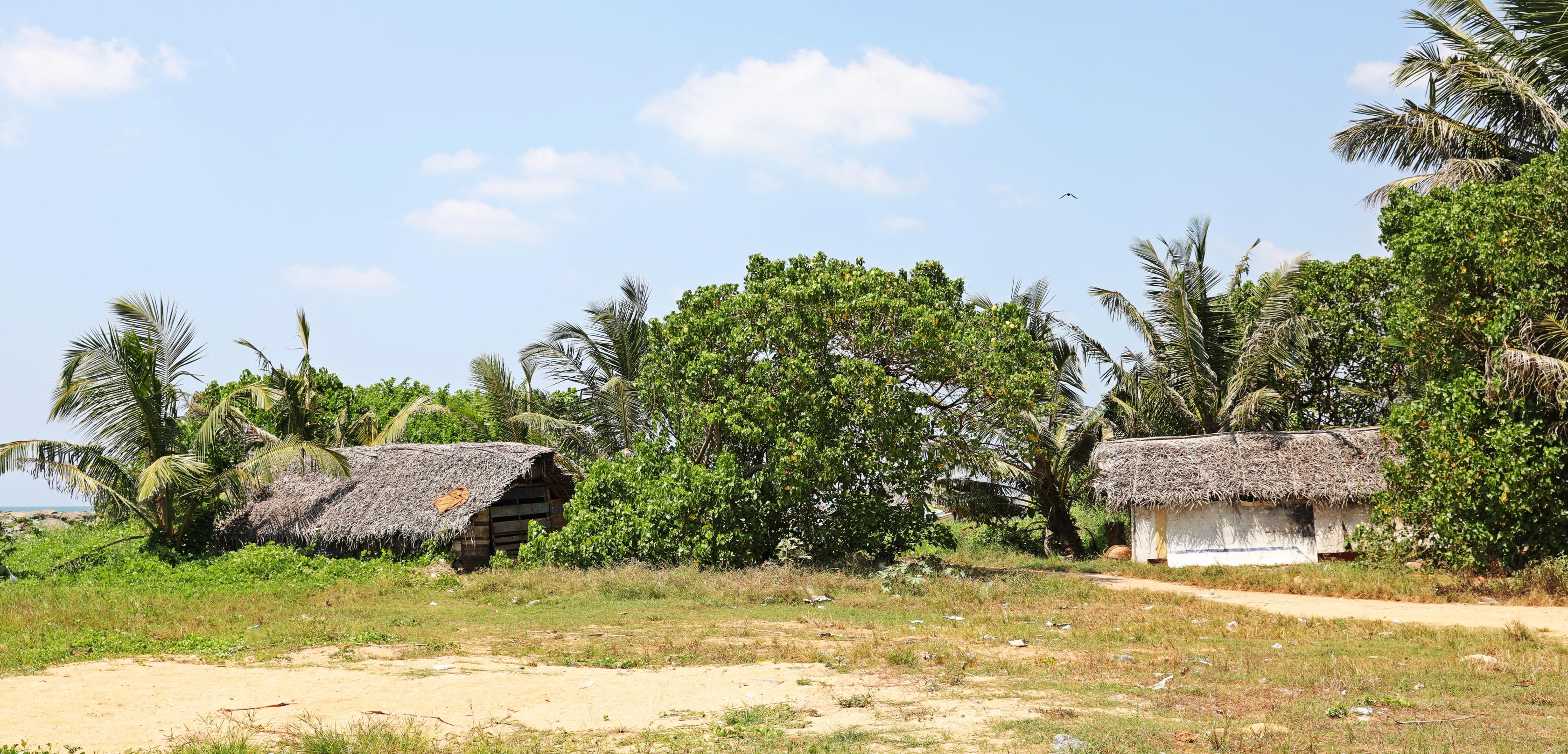 Fishing shacks, Negombo Beach