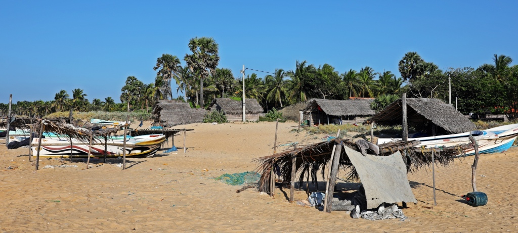 Fishing shacks, Kalpitiya