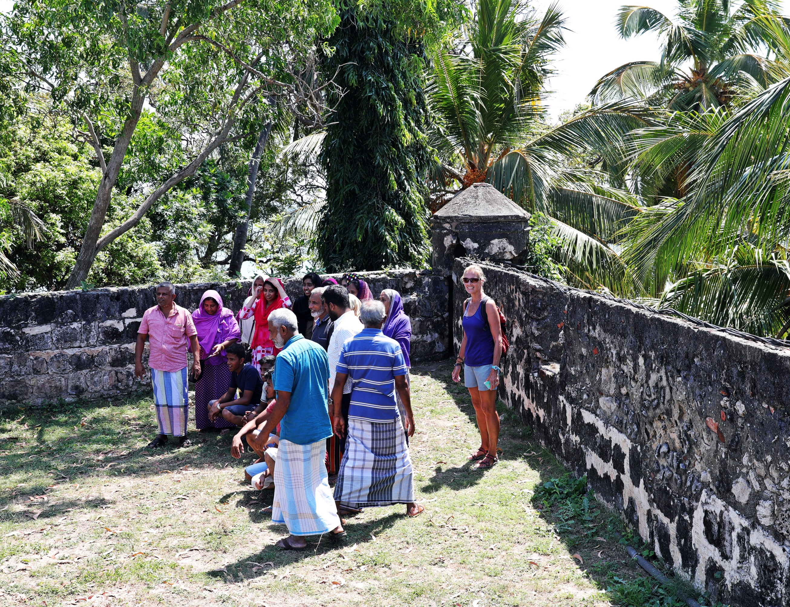 Fort tour with a Sinhalese tour group