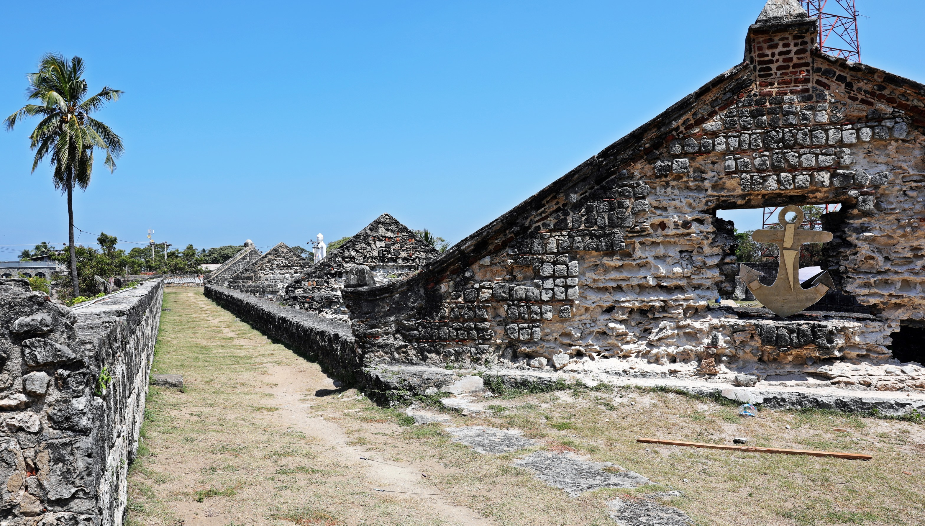 Roof gables inside the Dutch Fort, Kalpitiya
