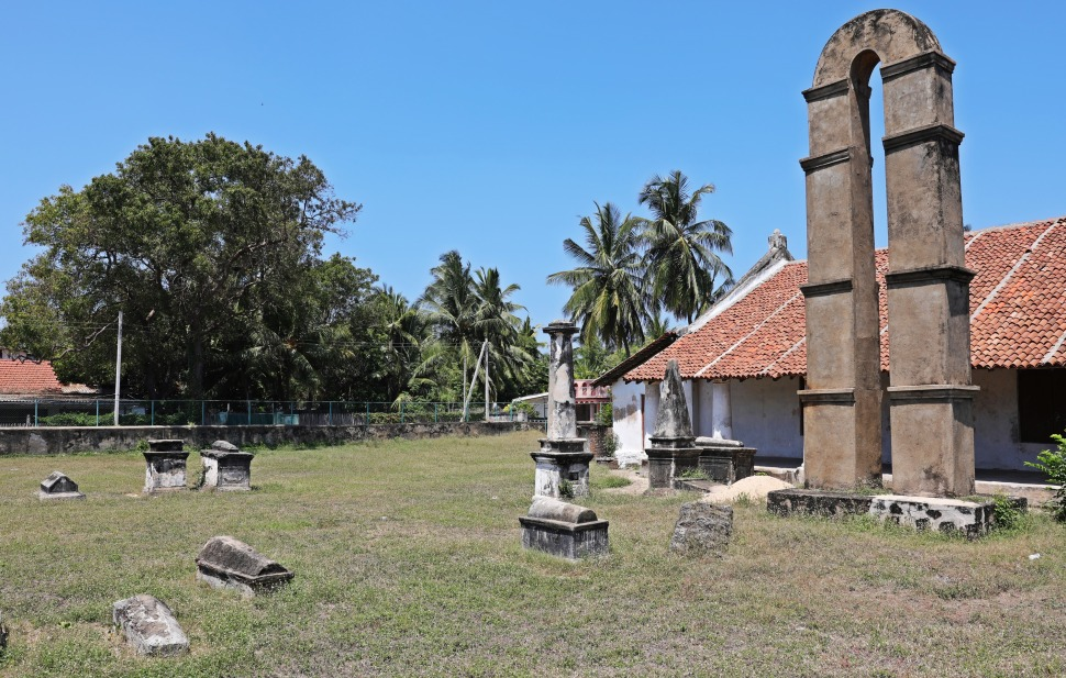 Dutch Reform church and graveyard, Kalpitiya