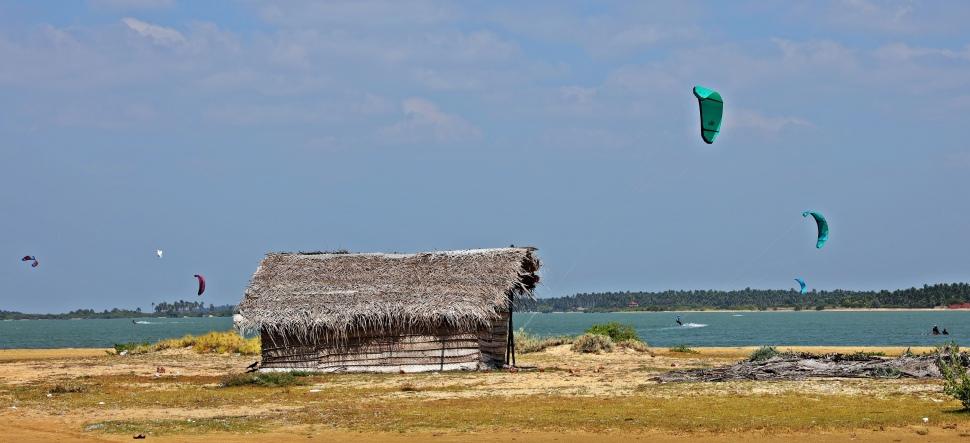 Fishermen shack, Kalpitiya lagoon
