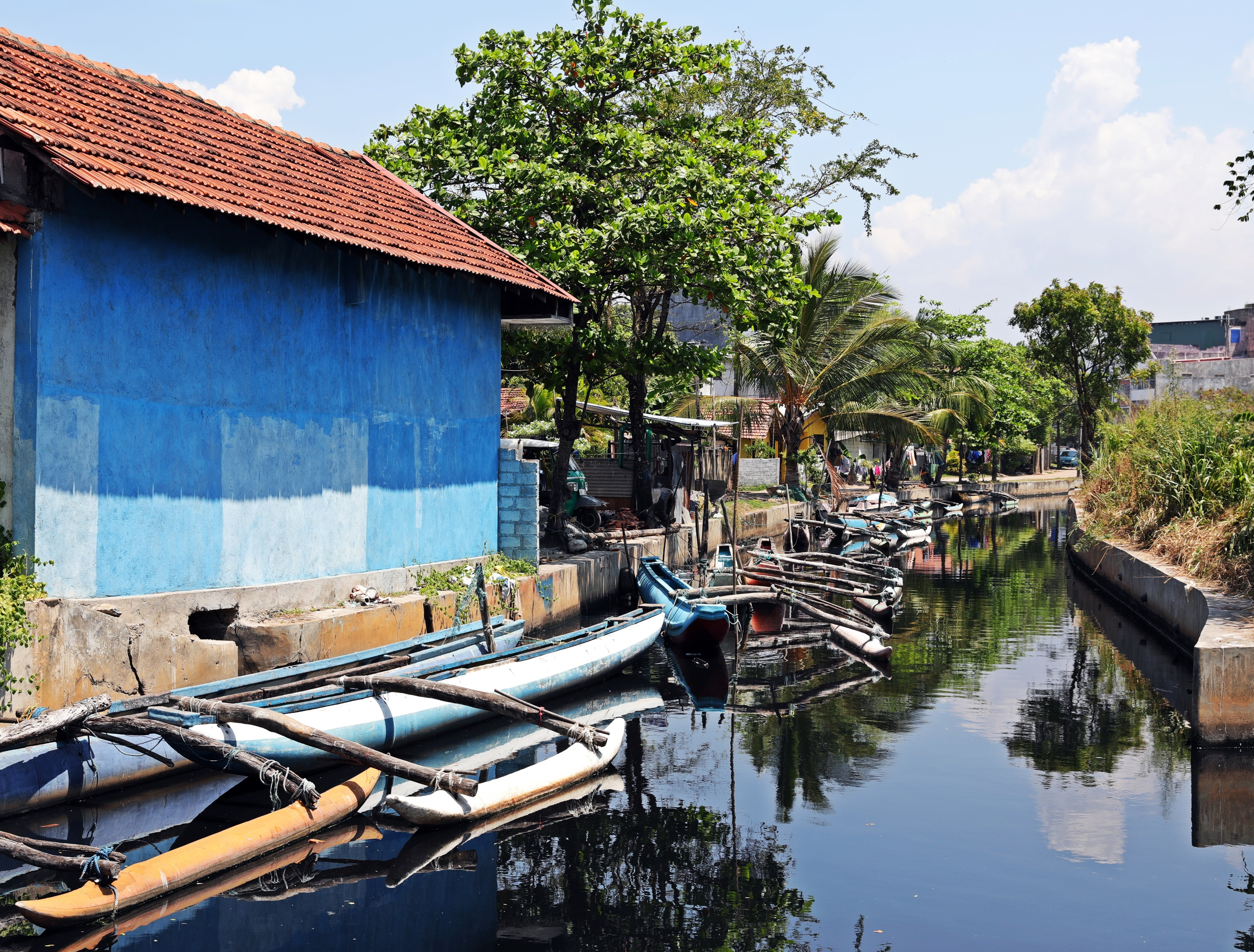 Dutch canals in fishing boats, Negombo
