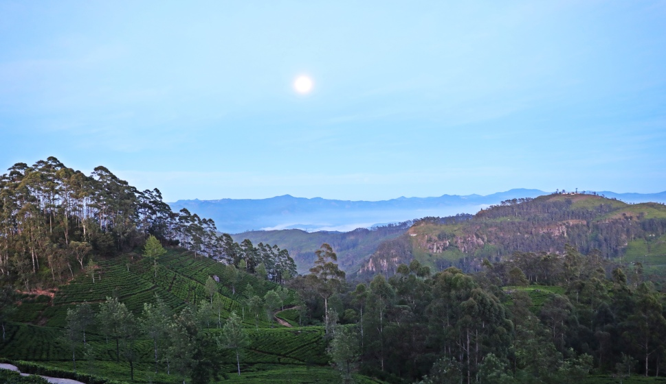 Full moon, Lipton's Seat, Sri Lanka