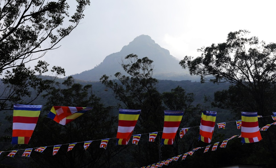 Adam's Peak and Buddhist flags