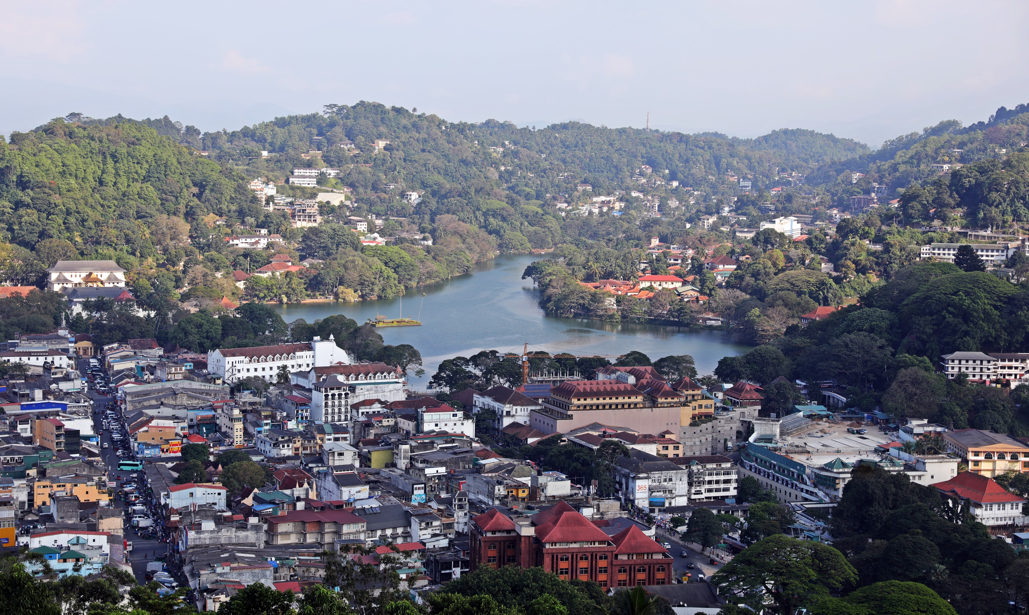 View of Kandy from Buddha statue