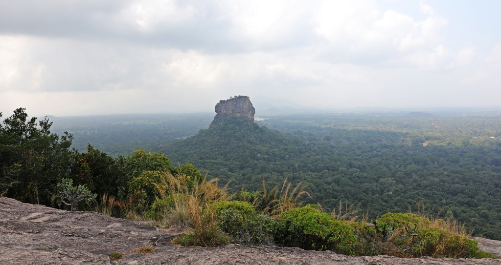 View of Sigiriya Rock from, Pidurangala Rock
