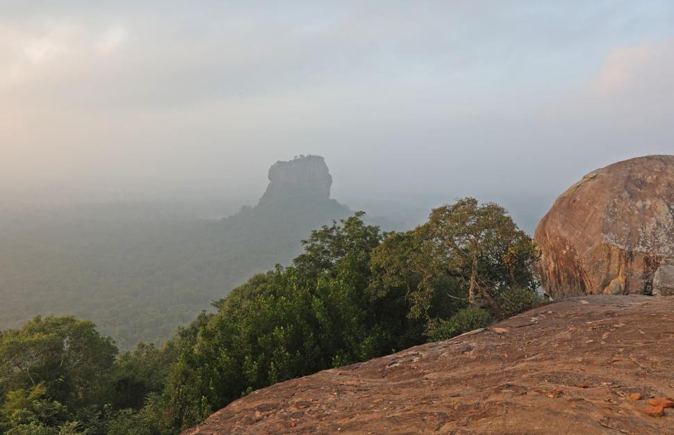 View of Sigiriya from Pidurangala Rock