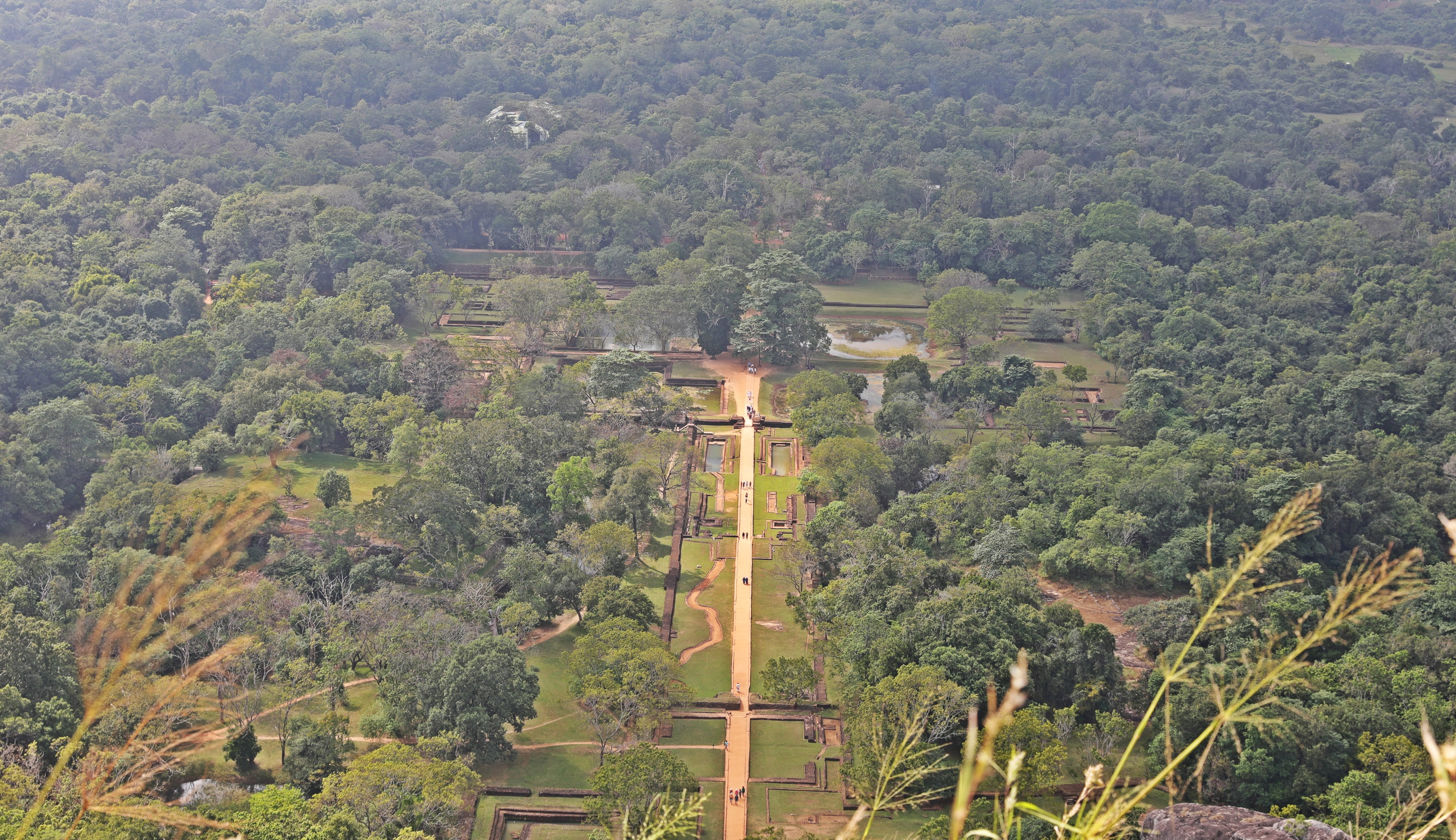 View of the Water Gardens from Sigiriya Rock summit