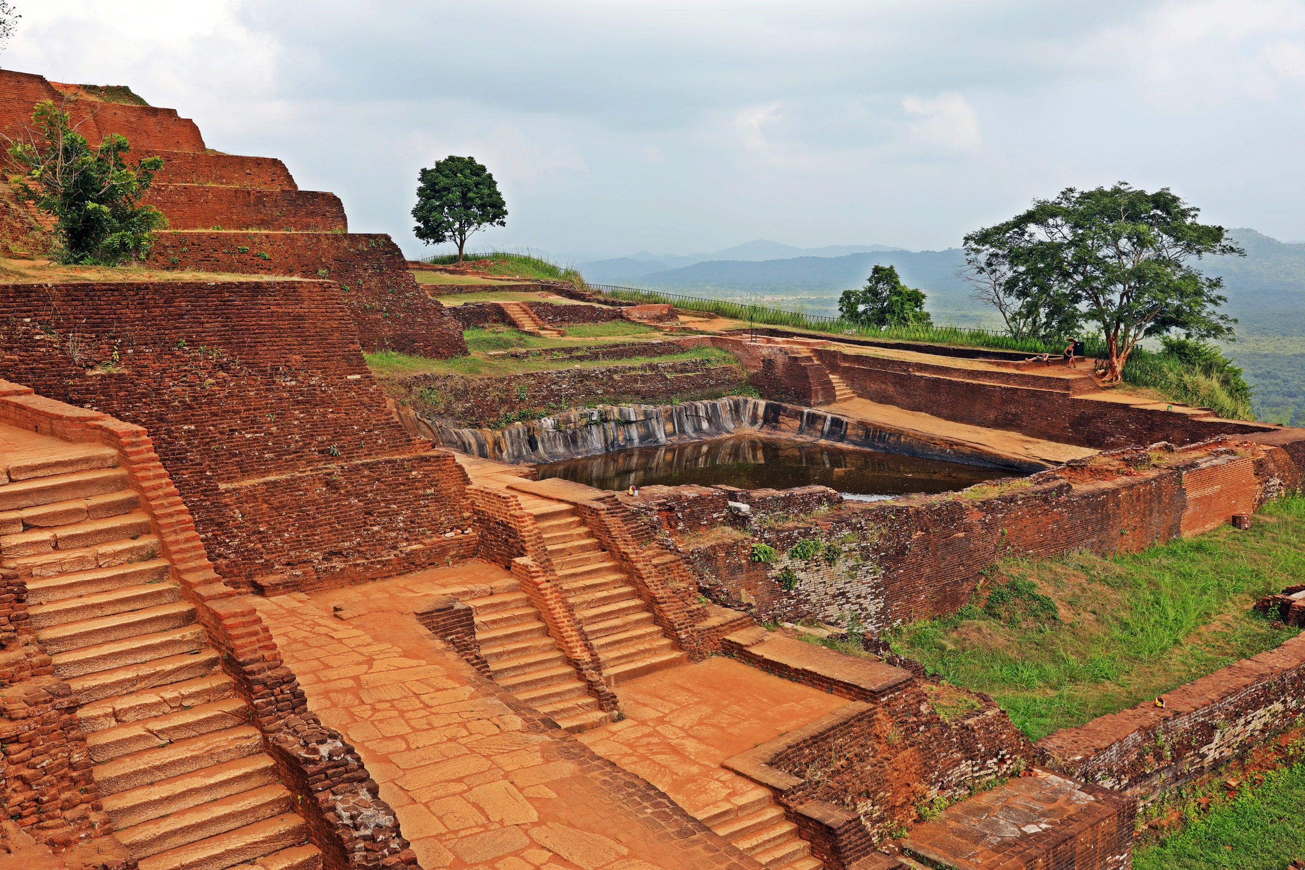Water tank and Palace ruins, Sigiriya Rock summit