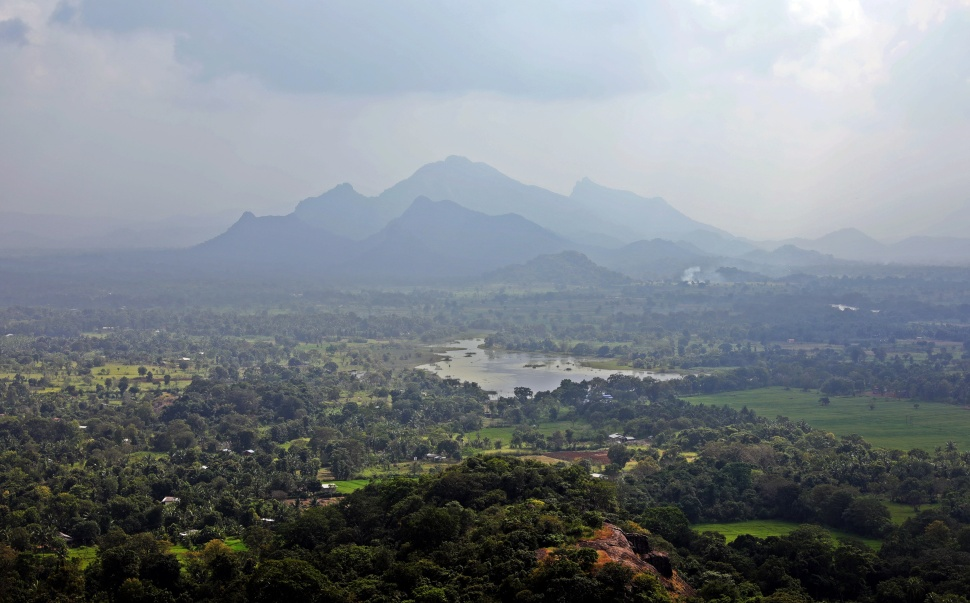 View from summit of Sigiriya Rock