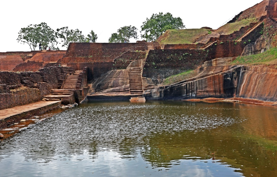 Water tank and palace ruins, Sigiriya Rock