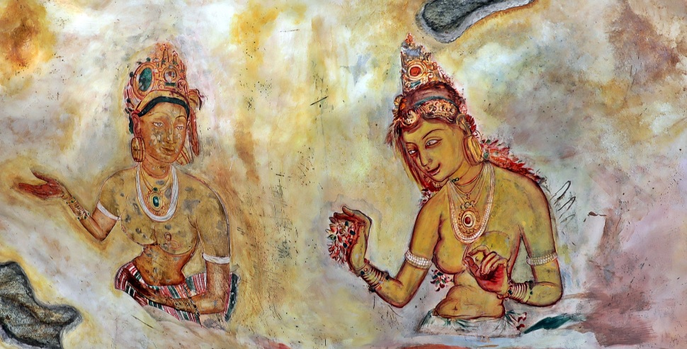 Frescoes, Sigiriya Rock