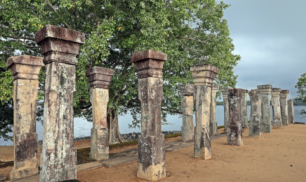 12th century palace ruins near Parakrama Samudra Lake