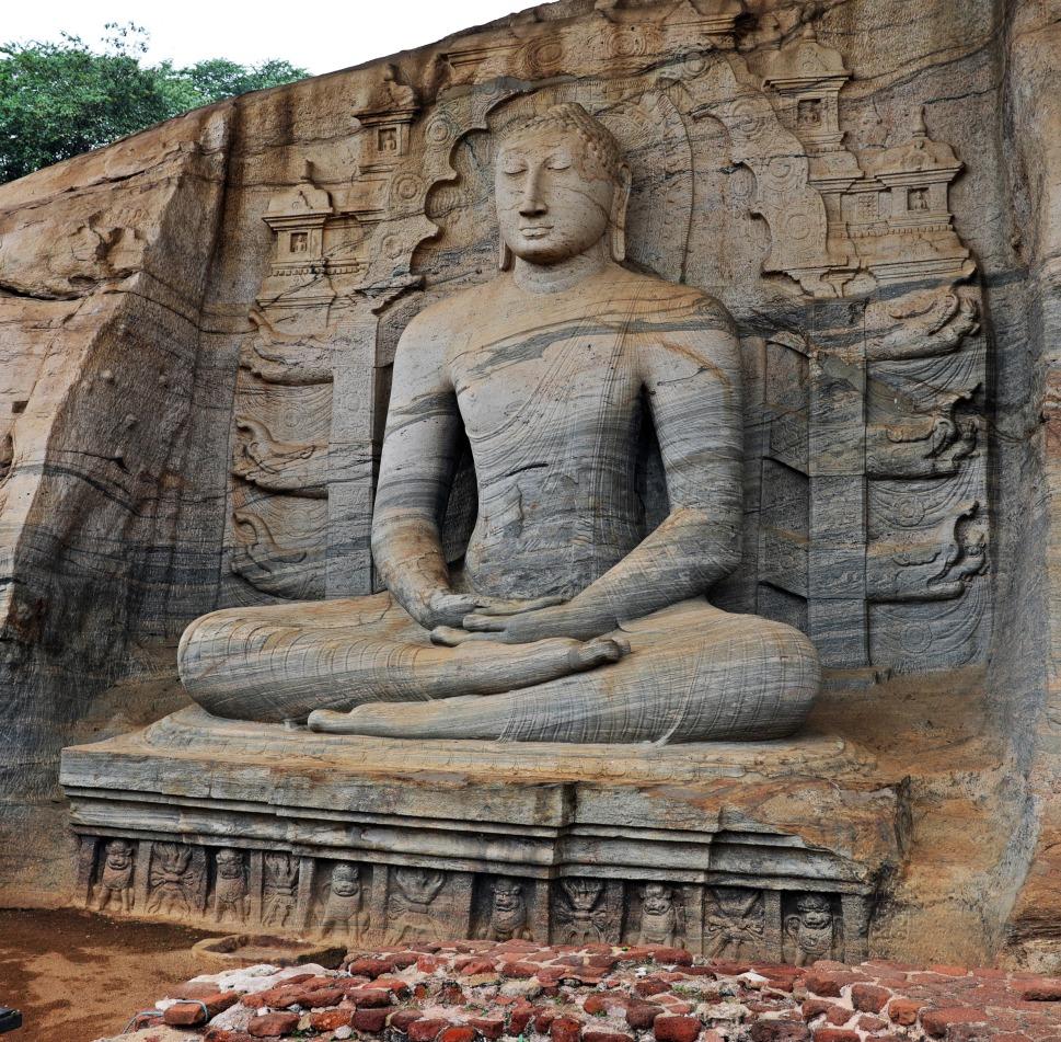 Sitting Buddhas, Gal Vihara, Polonnaruwa
