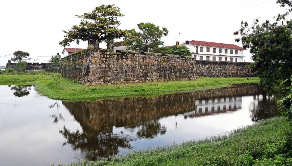 Batticaloa Fort with moat