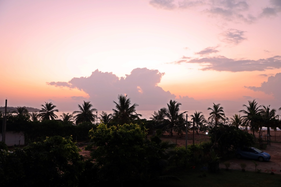 Sun rise from our hotel room, Kalkudah
