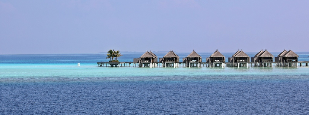 Stilt cabana hotel rooms, Maldives