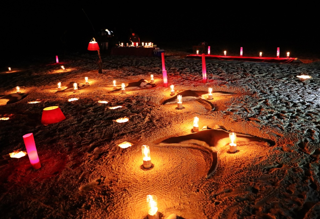 Beach party decorations, Maldives