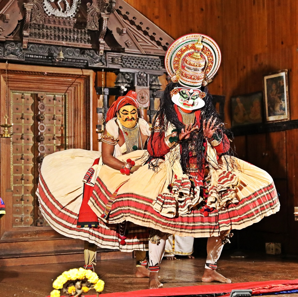 The vengeful murder of Kichaka, Kathakali play, Kochi