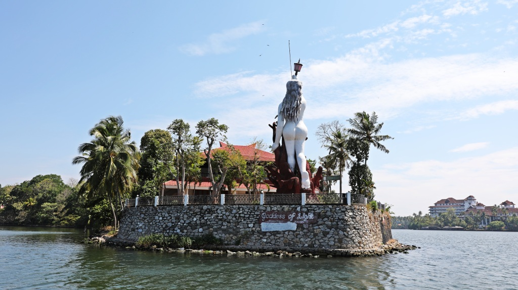 Naked lady lighthouse, Kerala backwaters
