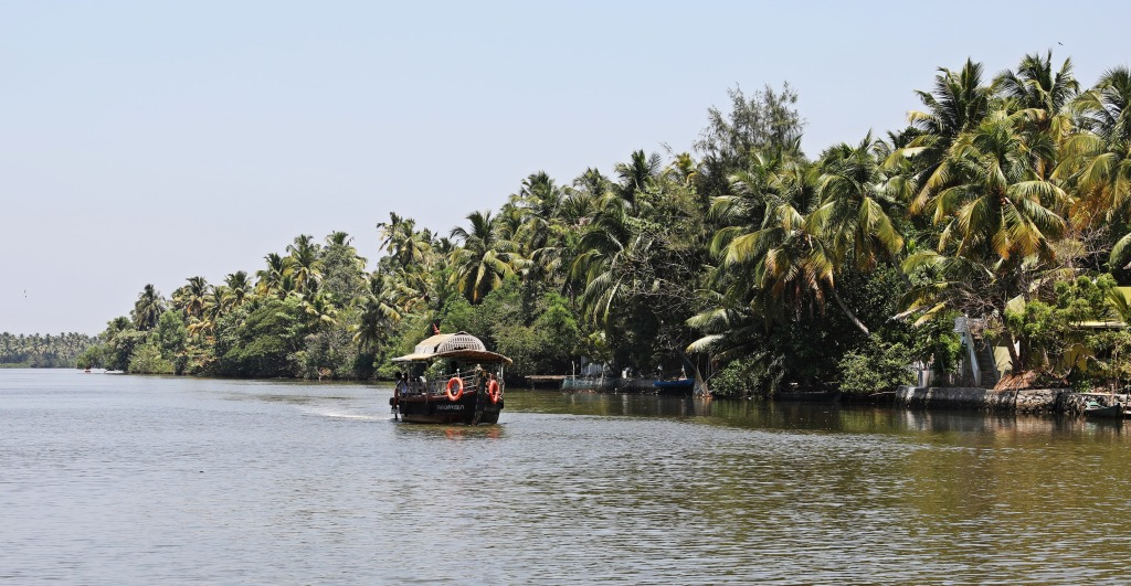 Local tour boat, Kerala backwaters